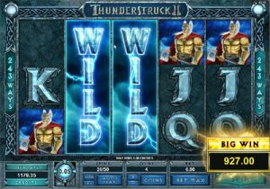 The Slot Game Interface on Thunderstruck 2 Casino Slots